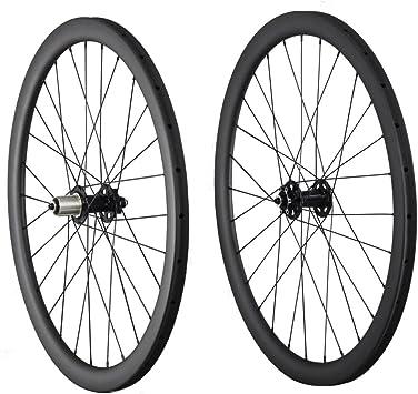 ICAN 40 mm Tubular Disco Ruedas Carbono 28 Agujeros para MTB/ciclocross Bicicleta, Sram XD Driver 10/11 Speeds, Hub Dia: 9*100mm/9*135mm: Amazon.es: Deportes y aire libre