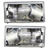 1990 volvo 740 headlight lens - Evan-Fischer EVA13572063137 Headlight Head Lamp Set of 2 Composite Clear Lens Halogen Driver and Passenger Side