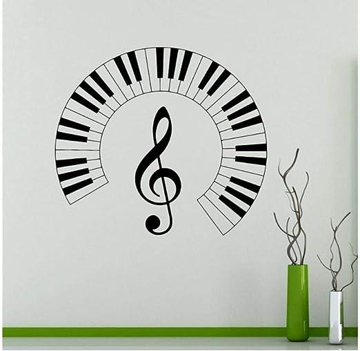 Teclas del piano Tatuajes de pared Notas musicales Etiqueta de ...