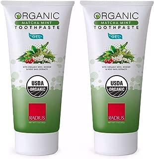 product image for RADIUS - Organic Gel Toothpaste - Matcha Mint (3 oz) | 2-Pack