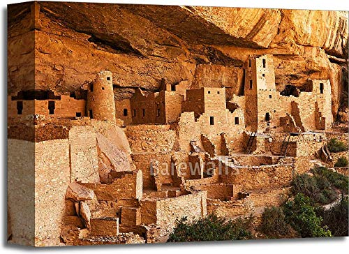 Mesa Verde – Pueblo landギャラリーWrappedキャンバスアート 11in. x 14in. B075HQFRNZ  11in. x 14in.