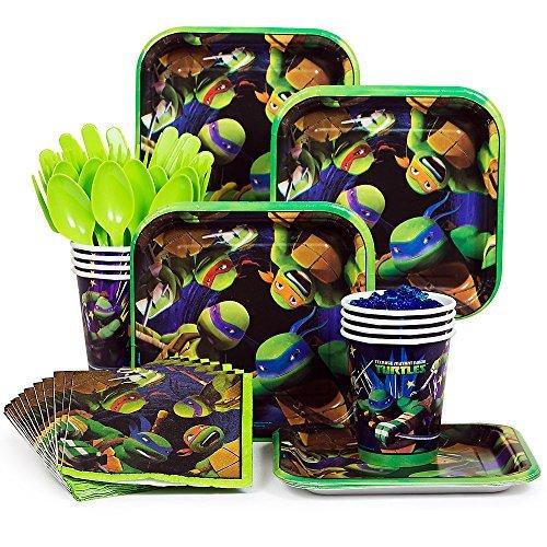 Ninja Turtles TMNT Standard Party Supplies Kit - Serves