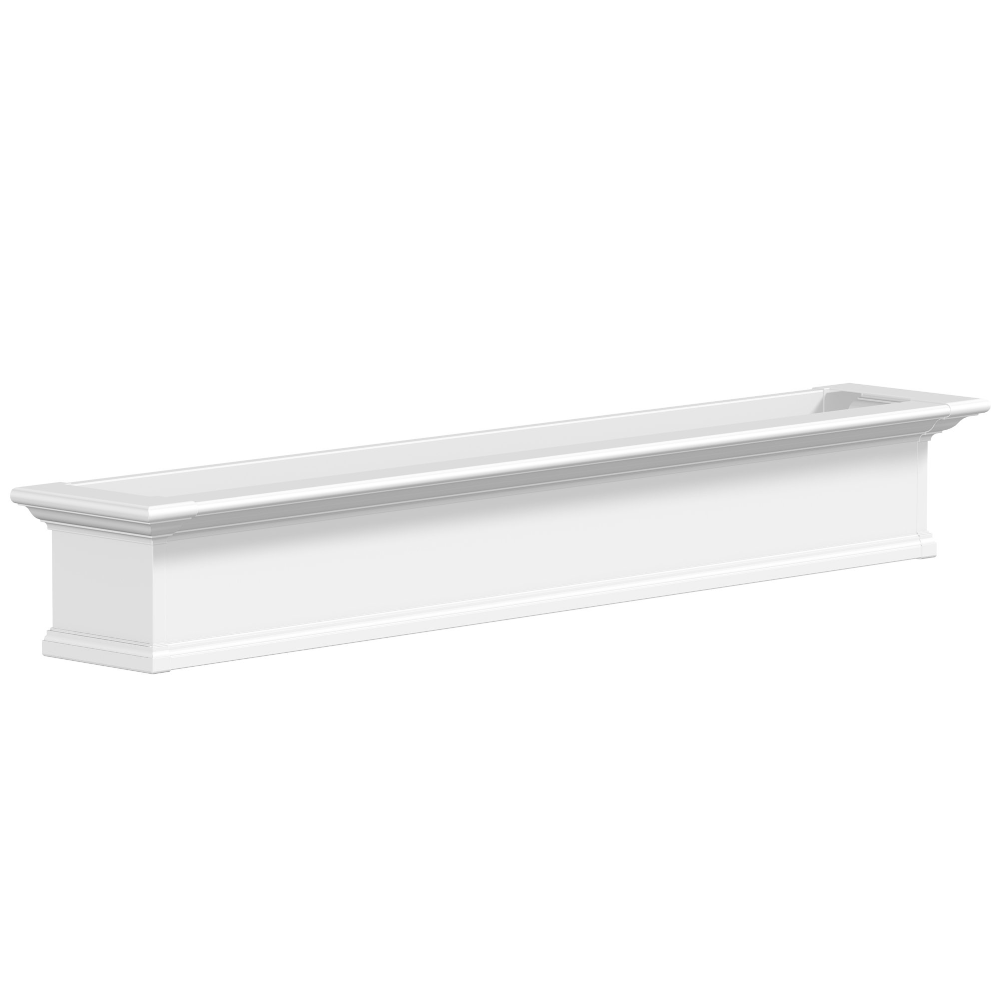 Mayne Yorkshire 4826W Window Box Planter, 6-Foot, White by Mayne