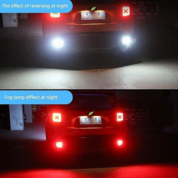 Gorgeri Car Rear Bumper Left Fog Light Reflector Tail Reverse Fog Lamp Fit for FIESTA MK7 08-16