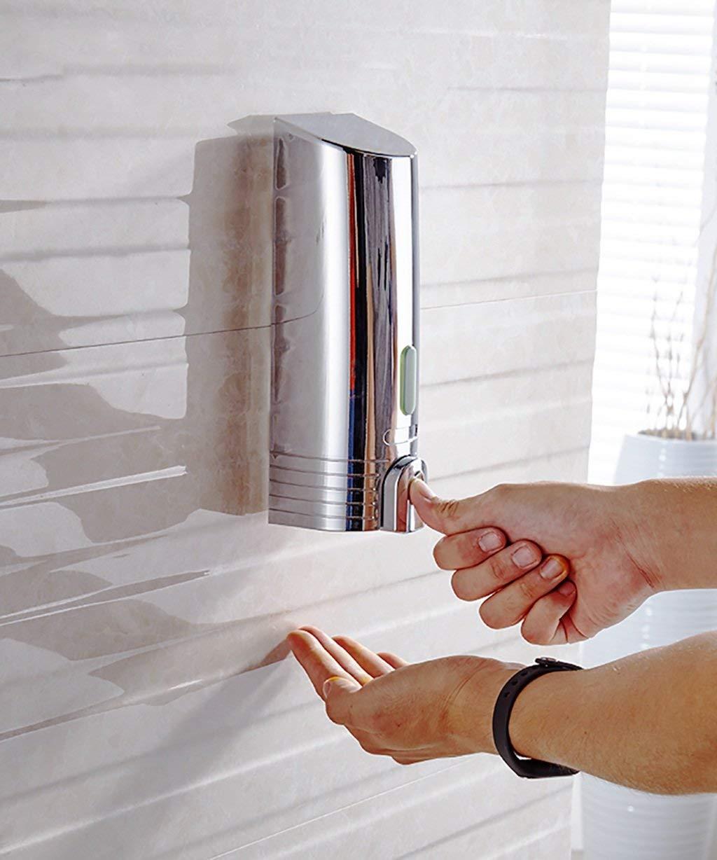 実用ソープディスペンサー ステンレス鋼壁掛けシャンプーシャワージェルソープディスペンサープレススタイルボトル用浴室、ホテル、ホームローションディスペンサー (色 : Silver, サイズ : 760ml) B07SR1XFH9 Silver 760ml