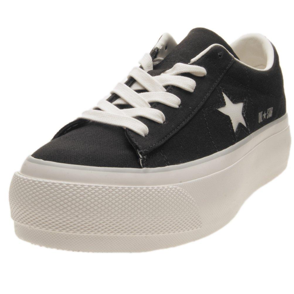 Converse One Star Platform Ox Black White 560996C: Amazon.co