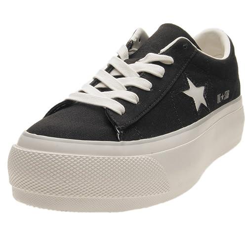 f3026b1fb06267 Converse One Star Platform Ox Black White 560996C  Amazon.es  Zapatos y  complementos