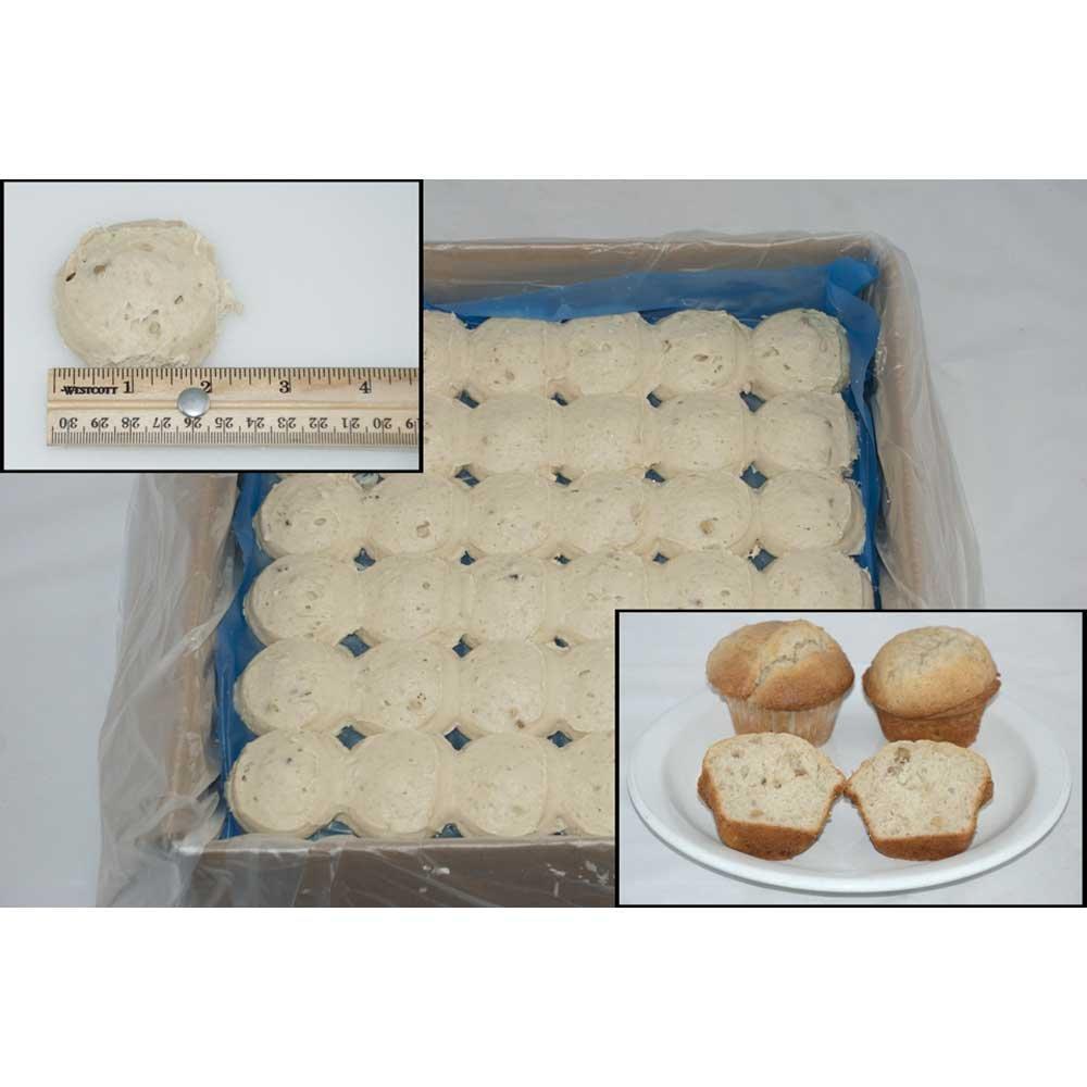 General Mills Pillsbury Place and Bake Banana Nut Muffin Batter Pucks, 1.5 Ounce -- 216 per case.