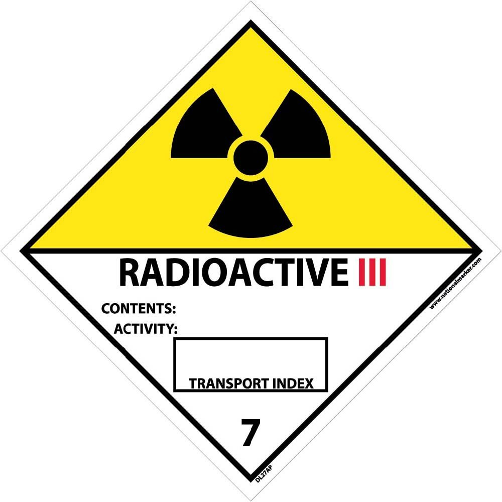 DL27AP National Marker Dot Shipping Labels, Radioactive III, 4 Inches x 4 Inches, Ps Vinyl, 25/pk (Pack of 25) National Marker Corporation