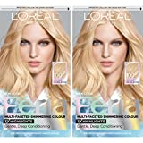 L'Oréal Paris Feria Multi-Faceted Shimmering Permanent Hair Color, V48 Violet Vixen (Intense Medium Violet), 1 kit Hair Dye
