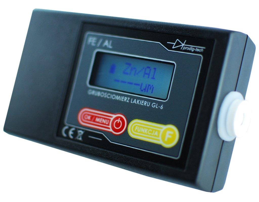 Lacktester GL-6 Schichtdickenmessgerä t Lackprü fer Lackschichtenmesser Alu & Fe eingabaute Sonde Lackmessgerä t Auto Lackmesser Prodig-Tech