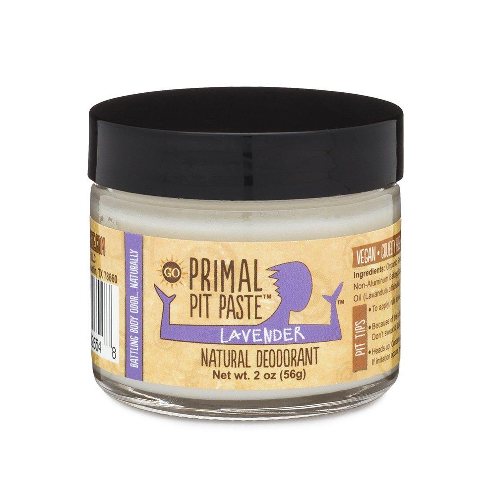 Primal Pit Paste Deodorant, 100% Natural, Aluminum, Paraben Free, No Added Fragrances, Lavender, 2 oz.