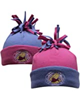 Winnie the Pooh - Baby Girls Pink and Lilac Warm Fleece winter hats x 2