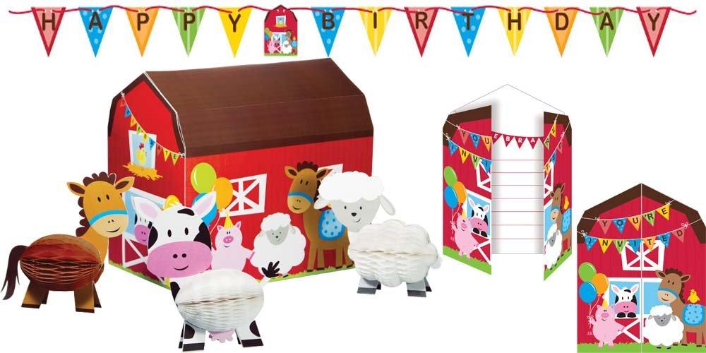 Farmhouse Fun Party Accessories / Supplies Kit