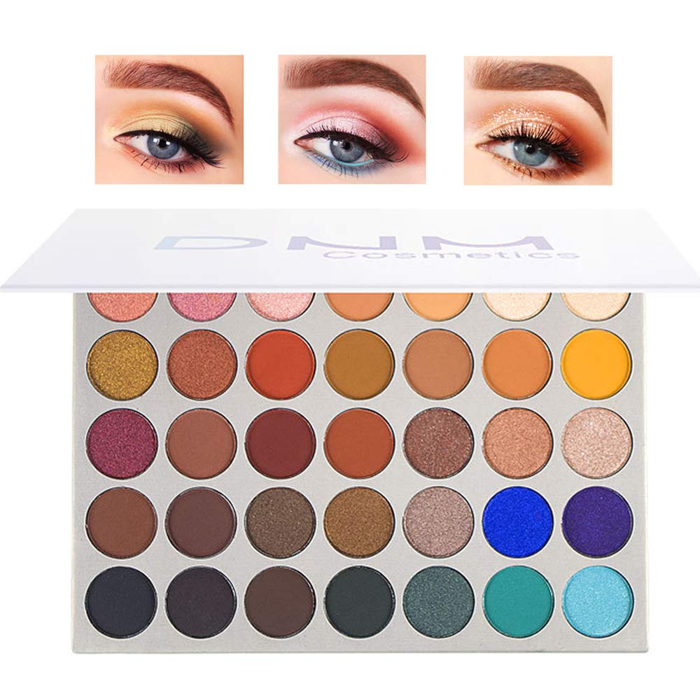 DEERWIN 35 Colors Professional Eyeshadow Palette Matte and Shimmer Colorful Highly Pigmented Long Lasting Waterproof Eye Shadow Pallets