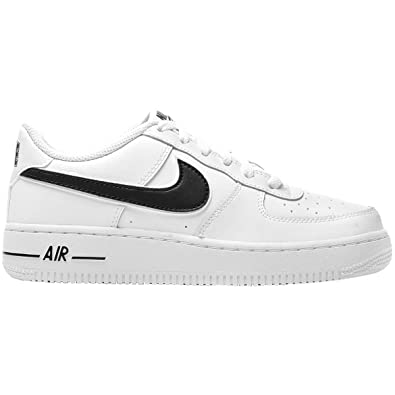 on sale 87a23 b6e3b Nike Air Force 1-3 (GS) Chaussures de Basketball garçon, Blanc (