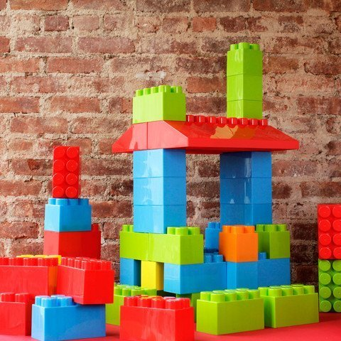 MassBricks 86 Pieces - Jumbo Building Blocks, Bricks - Kids, Boys, Girls Age 1 - 8 Play Educational, Construction, Stacking Toys - BPA Free