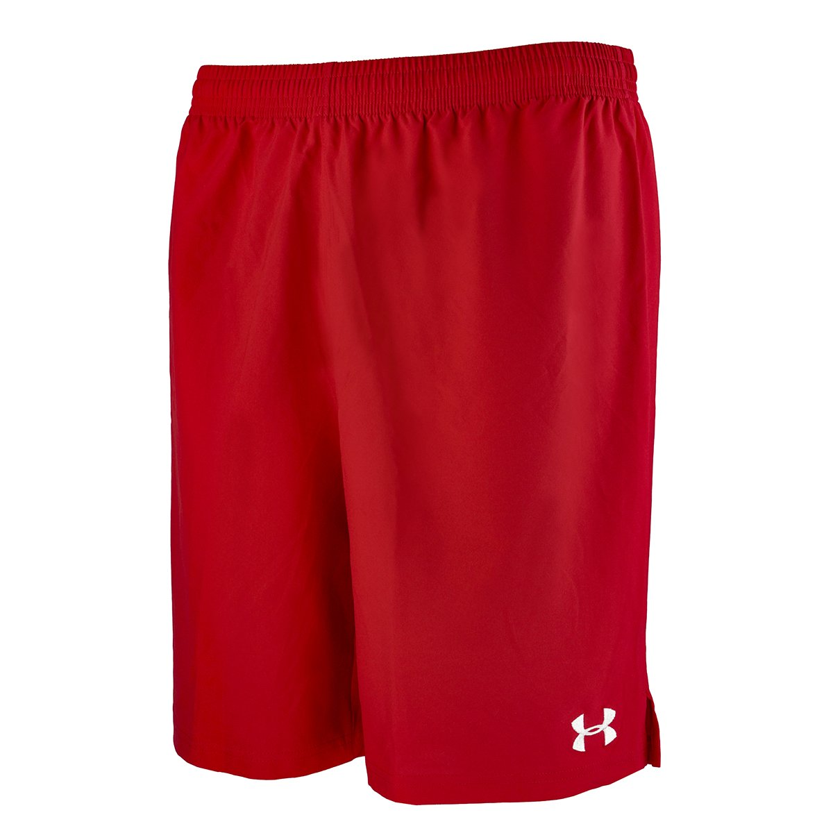 Under ArmourメンズHustle Soccer Shorts B00Y2T6Q7G XL|レッド レッド XL