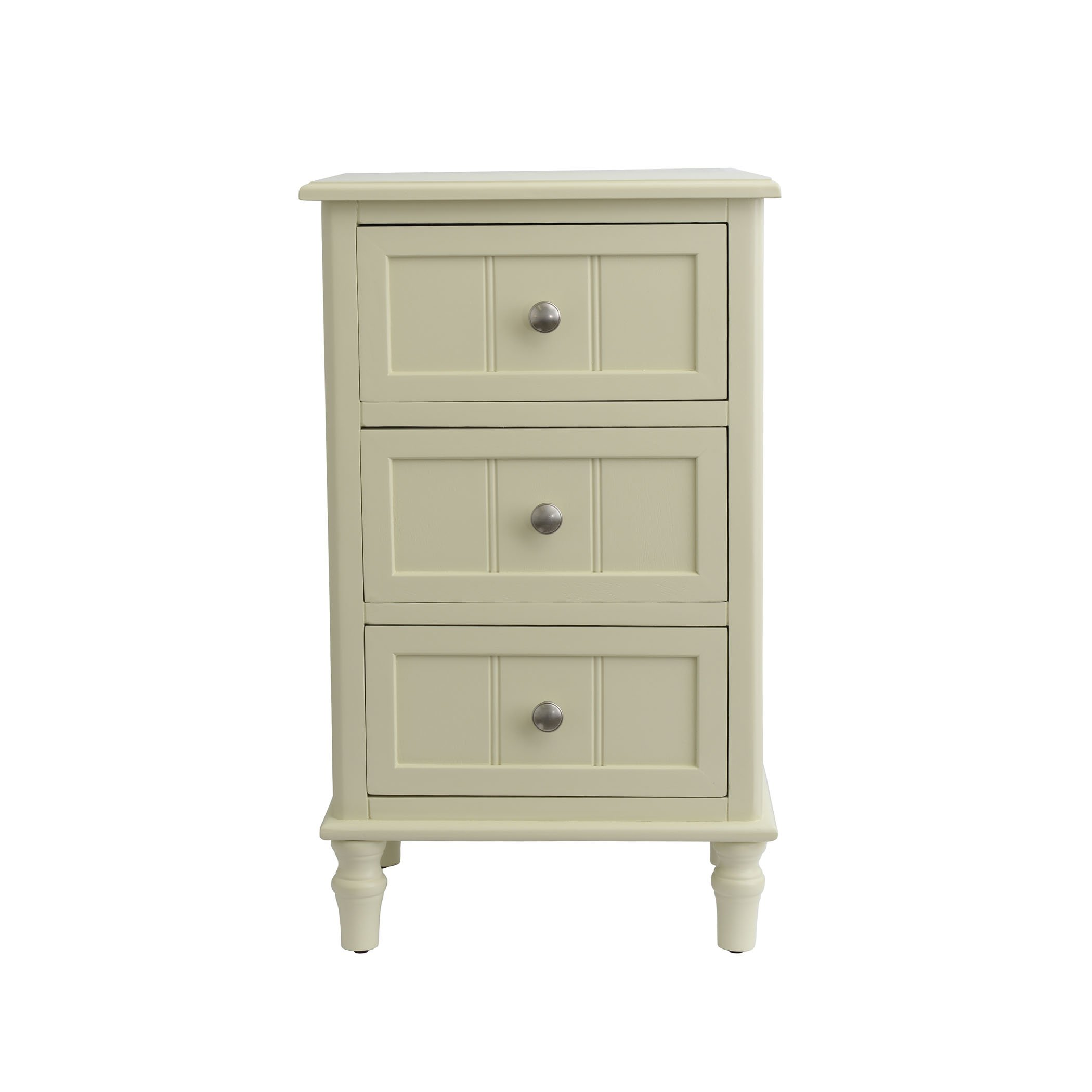 Décor Therapy FR1720 White Finish Three Drawer End Table, Buttermilk by Décor Therapy (Image #1)