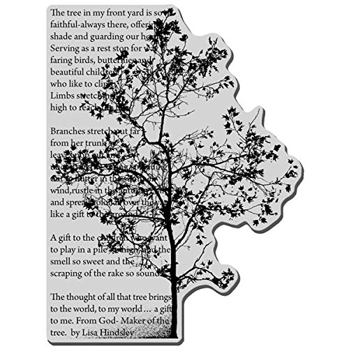 Image Tree Stamp (Stampendous Cling Rubber Stamp, Tree Poem Image)