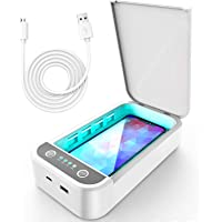 UV Phone Sanitizer Smartphone Sterilizer Portable UVC Lights Disinfection Box with Aroma Function Phone Cleaner for…