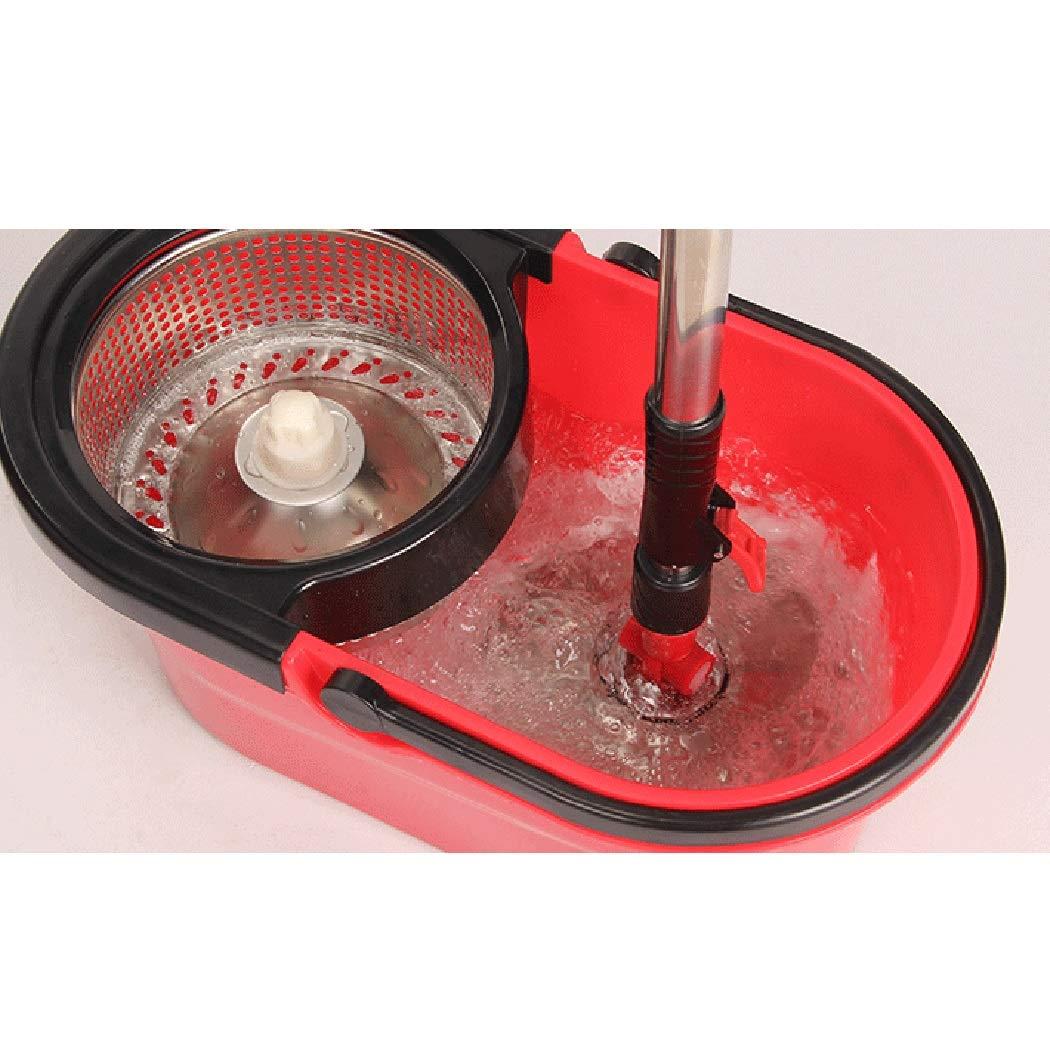 Aifulai Easy Spin Mopp & Eimer-Bodenreinigung mit 4 4 4 Mikrofaser-Moppköpfen, die Edelstahl-Moppstange Drehen 360 ° Moppkopf Für Fliesen, Autos, Decken, Treppen usw. (Farbe   Grün) B07K4WWKY7 Schaufel & Besen Sets 2ab608