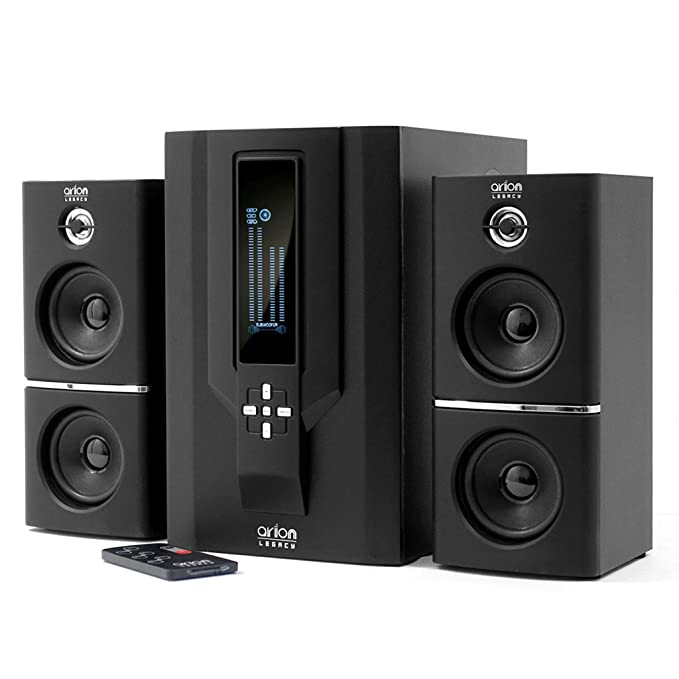 Arion Legacy AR504LR-BK 2.1 Speaker System with Subwoofer & Remote for MP3, PC, Game Console & HDTV - Black, 70 Watts Multimedia Speaker Systems at amazon