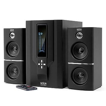 speakers system. arion legacy ar504lr-bk 2.1 speaker system with subwoofer \u0026 remote for mp3, pc speakers
