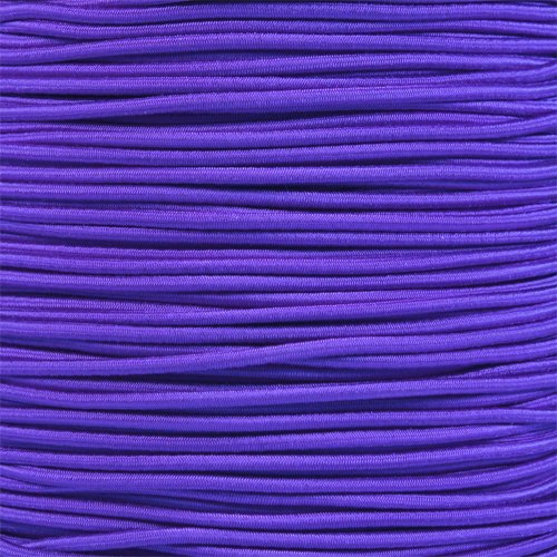 PARACORD PLANET Elastic Bungee Nylon Shock Cord 2.5mm 1/32'', 1/16'', 3/16'', 5/16'', 1/8'', 3/8'', 5/8'', 1/4'', 1/2 inch Crafting Stretch String 10 25 50 & 100 Foot Lengths Made in USA by PARACORD PLANET (Image #2)