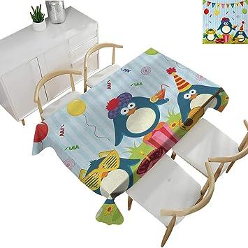 Amazon.com: Mantel de cumpleaños para niños, estampado de ...