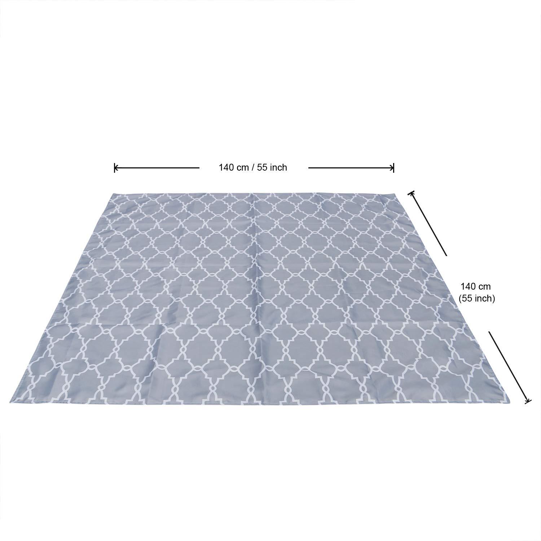 Reusable and Safe Material Seaworld ZITA ELEMENT 55 Inches Splat Mat for Under High Chair Art Craft Floor Mat Anti-Slip Baby Washable Spill Mat Waterproof