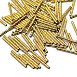 50x Gold Metal Noodle Beads Tube Spacer Noodle Bead Jewelry Making 20x1.8mm