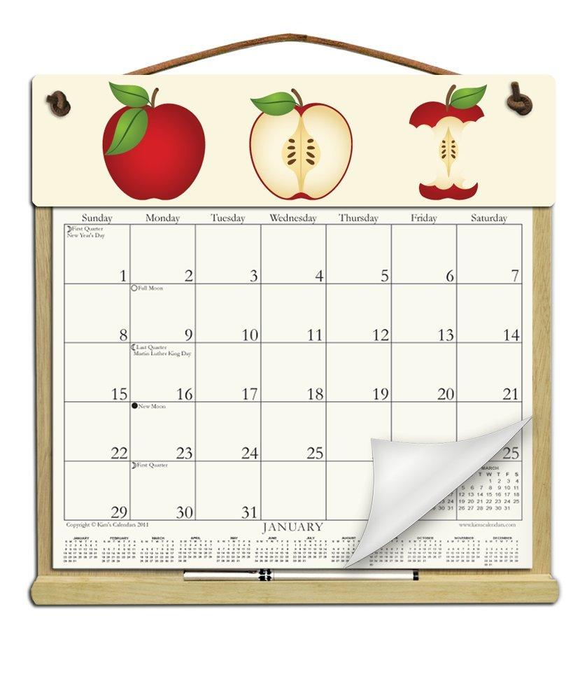 White Wood Calendar Holder Frame Wall | www.topsimages.com