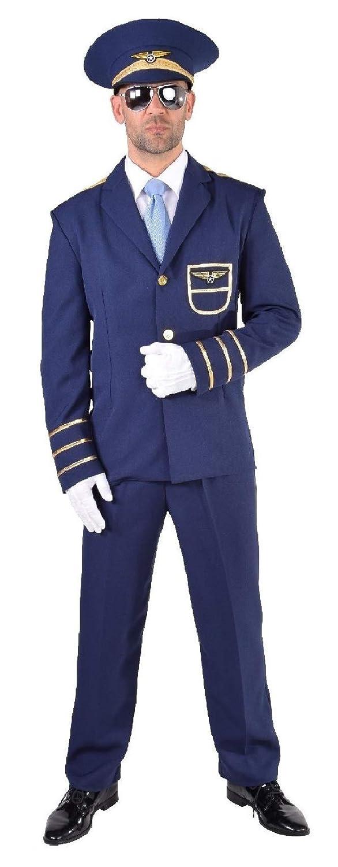M217210-4XL blau Herren Piloten Kostüm Uniform Flugkapitän Gr.4XL