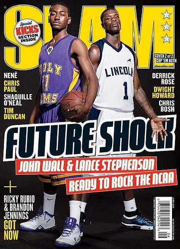 SLAM Magazine: Future Shock- John Wall & Lance Stevenson (May 2009)