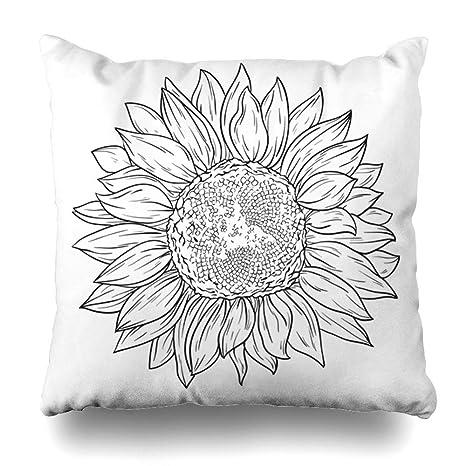 Pillow Home Funda De Almohada Doodle Dibujo Líneas De