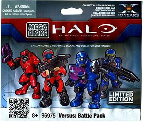 Halo Wars Mega Bloks Item #96975 Versus Battle Back Minifigure Mystery Pack 2 RANDOM Mini Figures