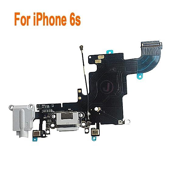 finest selection d7a5c e379e Johncase Charging Port Dock Connector Flex Cable w/Microphone + Headphone  Audio Jack Port Ribbon Replacement Part Compatible iPhone 6s 4.7