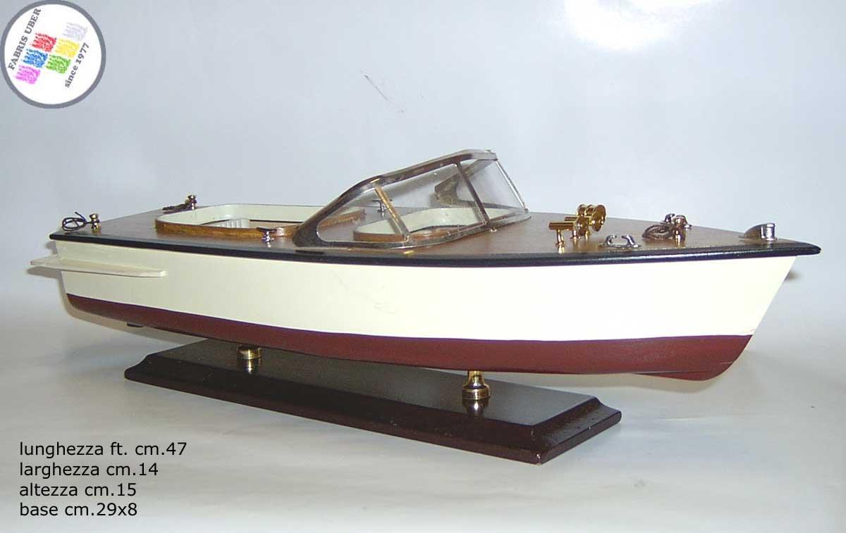 Lancha Época de Madera cm.50 Boat Casco Maqueta de Barco ...