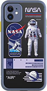 NASA SpaceX iPhone Case Back Cover Soft Silicone TPU Shock Protective Cases for iPhone 12pro Max,12pro,12,11pro,11,Xs Max,Xs,X,8p,8 Men Women (NASA B,iPhone12 Pro Max)