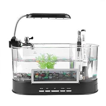 Garosa - Mini depósito de Peces con Pantalla LCD para Acuario, con Agua Corriente,