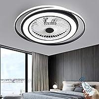 Ventiladores De Techo Con Luz Regulable LED Negros Modernos Con Iluminación Lámpara…