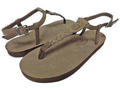 Rainbow T-Street Single Layer Center Braid Ankle Strap Sandals