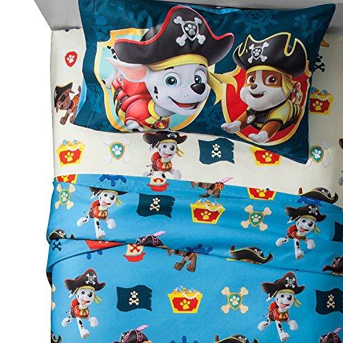 5-pc Paw Patrol Pirate Pups Full Sheets + Matching Sherpa Blanket