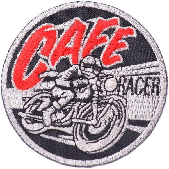 Parche termoadhesivo parche para ropa Cafe racer 7 cm