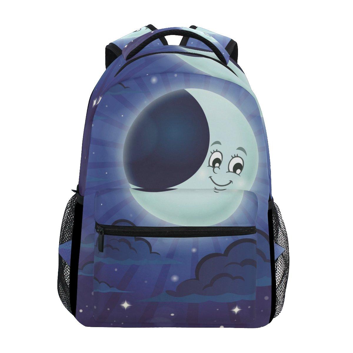ahomy Moon Night Skyバックパックガールズカレッジスクールバッグレディースカジュアル旅行用デイパック   B07FTJRW5M