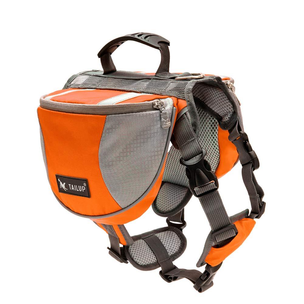 orange Portable Dog Saddle Bag Adjustable Dog Strap Backpack Trumpet,orange