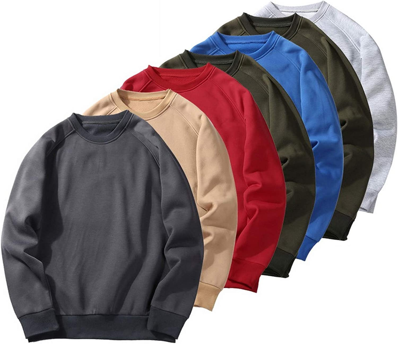 Yanlian1 Mens Fashion Hoodies Sweatshirts Thicken Hip Hop Streetwear Solid Fleece Hoody,Type 1 Yellow,M
