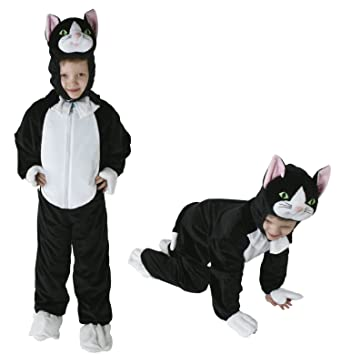 Gr 98 128 Katze Kinder Kostüm Jungen Mädchen Kinderkostüm Karneval