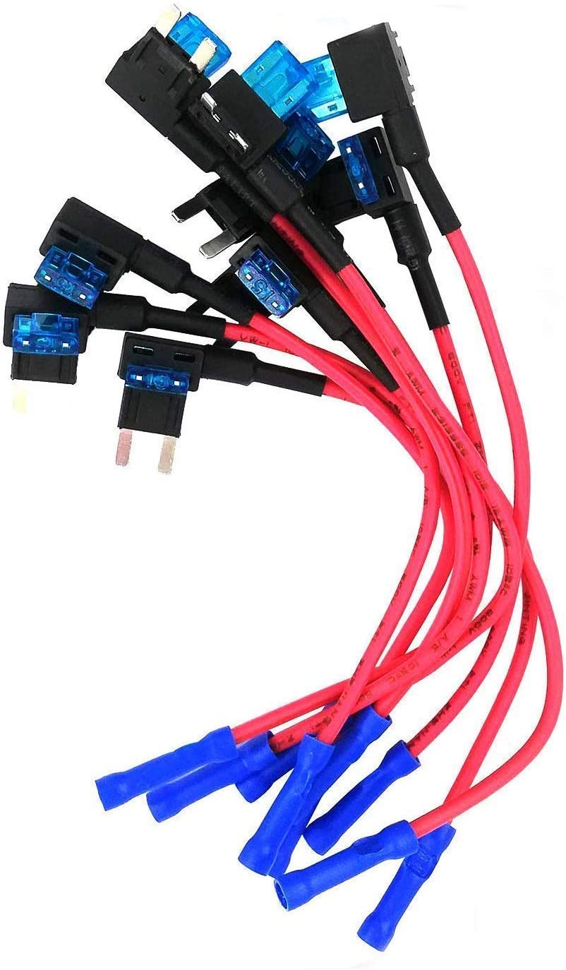 fuse box adapter amazon com  10 pcs  mcigicm 12v car add a circuit fuse tap  amazon com  10 pcs  mcigicm 12v car